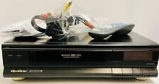 Vintage 1990 Quasar VH6403 4 Head VHS VCR, Remote, A/V Cables, Tested & Working!