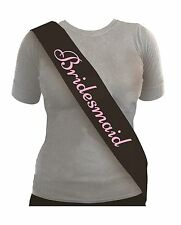 Black Bridesmaid Sash With Pink Text for Hen Night Party Weekend