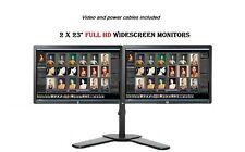 "Cheap Gaming Dual Monitor 23"" Screen 1080p COMPUTER PC LAPTOP MONITOR VGA DVI"