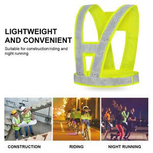 High Vis Reflective Safety LED Vest Jacket Flashing Warning Night Clothes