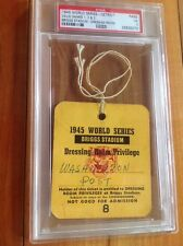 1945 PSA  3 Chicago Cubs Detroit Tigers World Series Ticket  Dressing Room 2016
