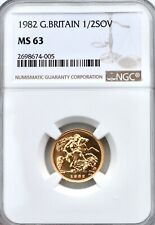 More details for 1982 gold half sovereign ngc ms63 great britain 1/2