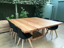Large Square Hardwood Dining Table Handmade locally in Melbourne