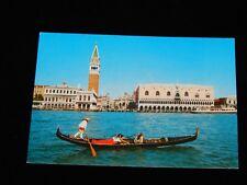 Vintage Postcard, VENICE, ITALY, IT,St Mark's Dock & Gondole, QSL,To Nova Scotia