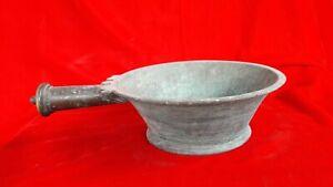 Antique India Travancore Military PadaChoru Rice Serve Pan Bowl Brass Bronze B45