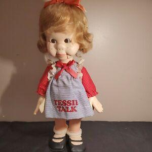 Tessie Talk Girl Ventriloquist Dummy Doll 1974 Horsman exc condition!!