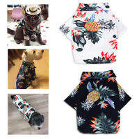 Cute Dog Cat Puppy Pets Fashion Floral Clothes Clothing Beachwear Shirt Apparel