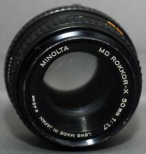 MD ROKKOR-X 50mm f1.7 Minolta Mount Camera Prime Lens Japan CLEAN!
