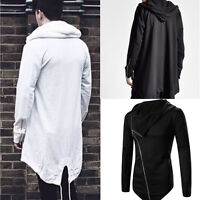 Vogue MEN Long Hooded Sweater Cardigan Cape Cloak Coat Outwear Jacket Top Warm