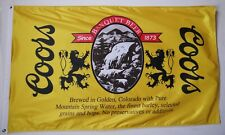 """Coors Banquet Beer Flag 3' X 5' Quality Party Bar Decoration Banner """"USA Seller"""""""