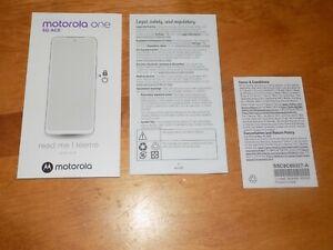 MOTOROLA ONE 5G ACE Instruction English Spanish Language Instructions Guide ONLY