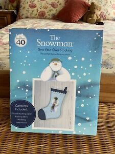 BRAND NEW BOXED OFFICIAL RAYMOND BRIGGS The Snowman Sew Your Own Stocking