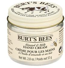 Burt's Bees 57g Moisturising Almond and Milk Hand Cream NEW FREE UK POSTAGE