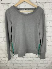 TLF Apparel Infinity Athletic Sweatshirt Solid Grey Cut Out Back Large NWT