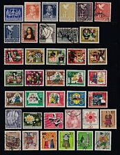 GERMANY - 125 Different Large Stamps - Mostly 1960s & 1970s - 4 Scans - (Lot 1)