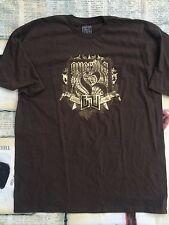 Guerilla Union Gorilla T-Shirt Brown GOLD Size XL EXTRA LARGE HIP HOP Rap