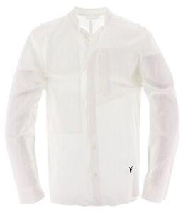 AllSaints All Saints Herren Hemd Shirt Freizeithemd Gr.M Casual Weiß 112496