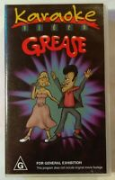 Grease Karaoke Video VHS 12 Songs To Sing Along To MRA Entertainment Group Small