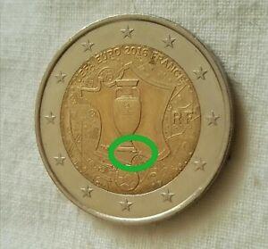 2 EURO FRANCIA 2016 - UEFA EUROPEI DI CALCIO  errore ESUBERO conio Commemorativa