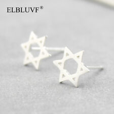 Earrings Star Post Everyday Wearing Gift S925 Womens Star of David Jewish Stud