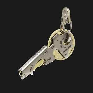 True Utility Keytool, Compact 8 in 1 Multi Tool Key Ring To Fit Over Keys TU247K