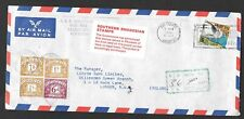 Southern Rhodesia - 1970 postage due cover from Salisbury to London.