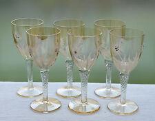 6 antike Sherry-oder Südweingläser mit lüstrierter Kuppa und floralem Dekor