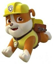 "Paw Patrol Rubble Iron On Transfer 4.75""x5.75"" for LIGHT Colored Fabric"