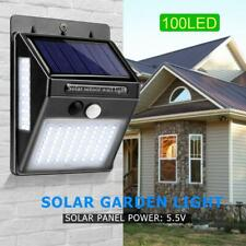 100 LED Waterproof Solar Power Wall Lamp Motion Sensor Outdoor Garden Lighting