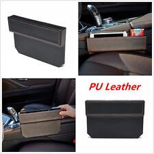 PU Leather Catch Catcher Box Caddy Car Seat Gap Slit Pocket Storage Organizer X1