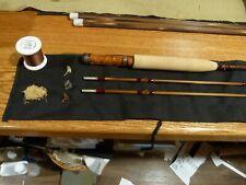 Custom Bamboo Fly Rod Flamed Garrison 201E taper 7' 3wt Maple Engraved band seat