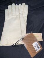 Fownes Ivory Leather Gloves w/ Cashmere Lining Womens 7