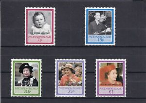 Ascension Is 1987 Royal Ruby Wedding SG 447/51 Mint Unhinged