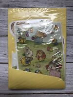 Vintage Hallmark Easter Fun Stationery Set NOS NIP Stickers Notes Bunnies