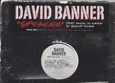 David Banner Feat. Akon Snoop Dogg, And LiL Wayne Speaker 2007 Promo Vinyl LP