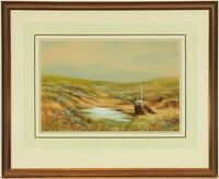 M.S.H - Signed and Framed Early 20th Century Watercolour, Highland Landscape