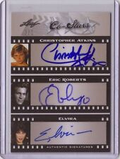 LEAF Pop Century Christopher Atkins Eric Roberts Elvira Triple auto card #3/5