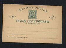 Portugal India unused postal card