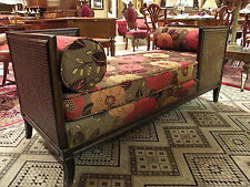 Modern Cane Tete-a-Tete Unique Cane Conversation Bench,cushions/bolsters, sofa