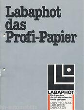 Prospekt Labaphot Profi Papier 1982 brochure photographic paper Broschüre