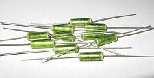 10 pcs .1uf, 100V ERO Polyester Foil Audio Capacitor KT-1801 NN Film Cap Green