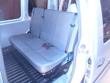 VW Caddy 3 Person Rear Seat with Inbuilt Seat Belts on Low Frame All About Vans