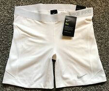 $35 NWT Nike Women's Pro Sliding Shorts sz Large Softball White L New 863049 100