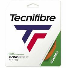 TECNIFIBRE X-ONE BIPHASE SQUASH STRING - 1.24MM - ONE 10M SET - ORANGE - RRP £22