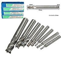 1PC 2-12mm HSS CNC Carbide Straight Shank 4 Flute End Mill Cutter Drill Bit