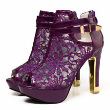 Women's Peep Toe Platform Stiletto High Heels Shoes Ankle Boots Pumps Sandals
