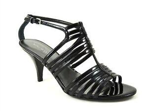 Nine West Women's Fraya Strappy Ankle Strap Sandals Black Size 7.5 M