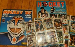NHL 1987 Sticker Album + Cards Wayne Gretzky Flyers Oilers Stanley Cup Lemieux