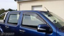 To Fit 2016+ Nissan Navara NP300 Tinted Window Wind Rain Deflectors - Adhesive