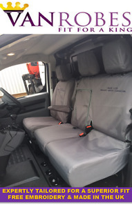 Vauxhall Vivaro 2019 on. Tailored Seat Covers. Grey or Black. + Free Embroidery.